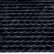 Керамическая черепица Опал Стандарт глянец черный