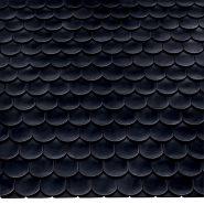 Керамическая черепица Опал Стандарт глазурированный кристальный черный
