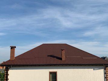 Металлочерепица Бельгия 8017 коричневая