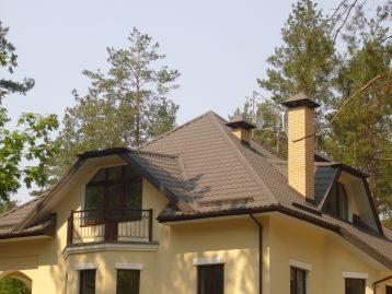Металлочерепица Польша коричневая 8019