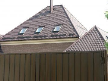 Металлочерепица Польша темно коричневая