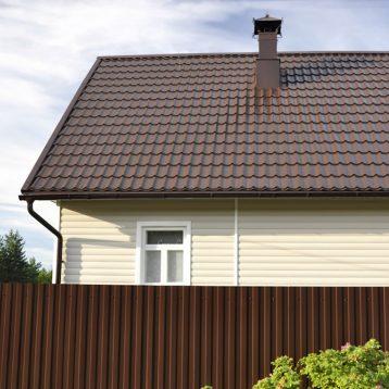 Металлочерепица Словакия коричневая 8019