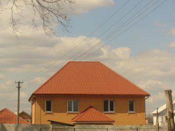 Металлочерепица Словакия терракот 8004