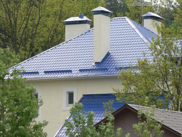 Металлочерепица Украина синяя 5005
