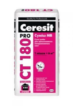 Ceresit CT 180 pro 27кг клей для приклеивания плит из минеральной ваты