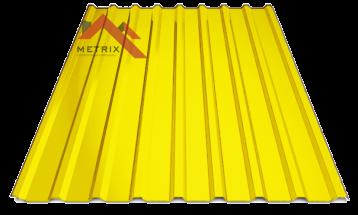 Профнастил пк-20 глянцевый желтый 1003