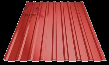 Профнастил пк-20 глянцевый ярко красный 3011