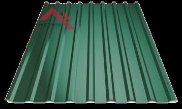 Профнастил пк-20 глянцевый ярко-зеленый 6005
