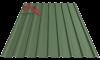 Профнастил пк-20 матовый темно зеленый 6020