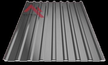 Профнастил пк-20 глянцевый темно серый 7024