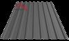 Профнастил пк-20 матовый графит 7024