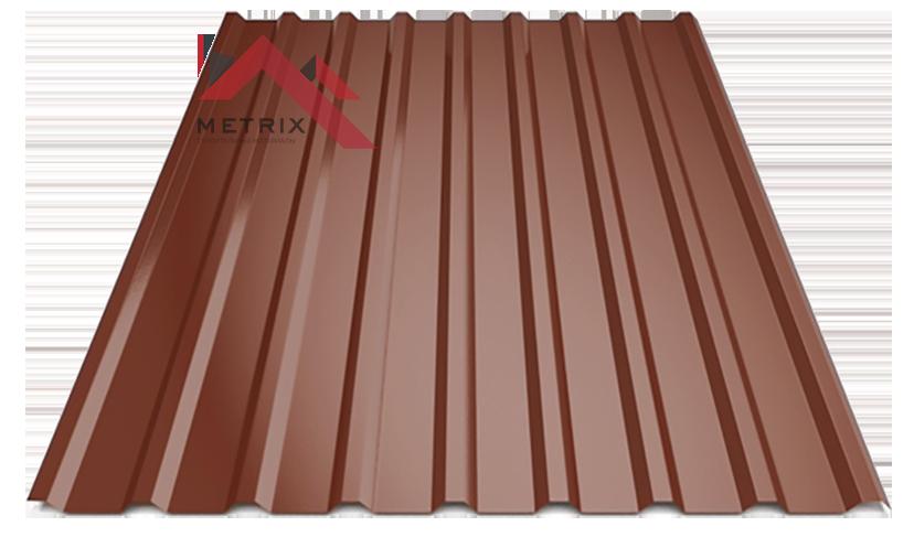 Профнастил пк-20 глянцевый коричневый 8017