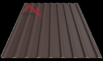 Профнастил пк-20 матовый темно коричневый 8019