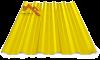Профнастил пк-35 глянцевый желтый 1003