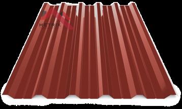 Профнастил пк-35 глянцевый бордовый 3009