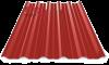Профнастил пк-35 глянцевый ярко красный 3011