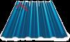 Профнастил пк-35 глянцевый синий 5005