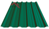 Профнастил пк-35 матовый ярко зеленый 6005