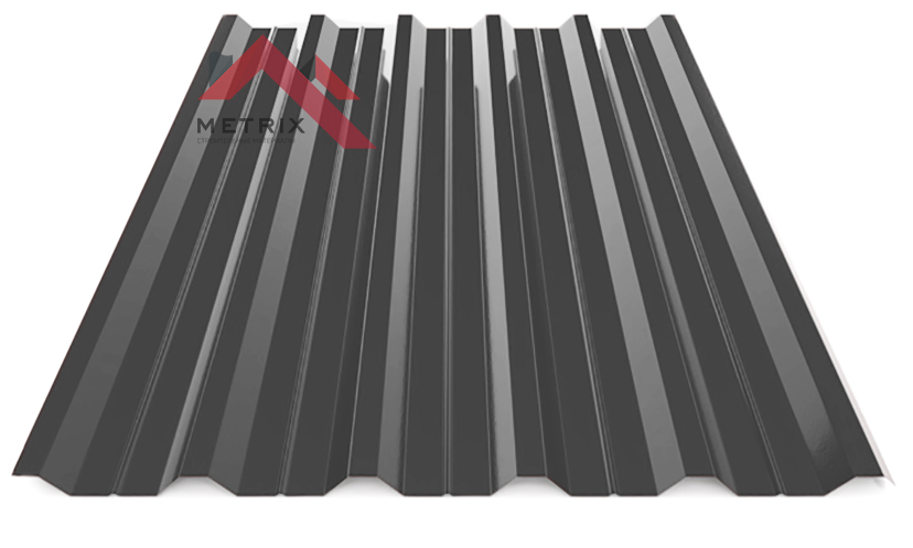 Профнастил пк-35 глянцевый серый асфальт 7024