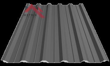 Профнастил пк-35 матовый графит темный 7024