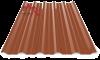 Профнастил пк-35 глянцевый кирпичный 8004