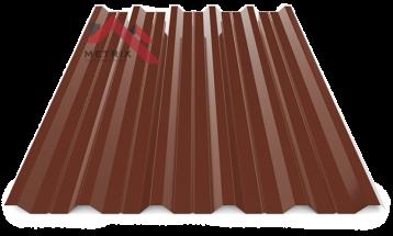 Профнастил пк-35 глянцевый молочный шоколад 8017
