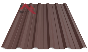 Профнастил пк-35 матовый коричневый 8017
