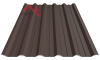 Профнастил пк-35 матовый темно коричневый 8019