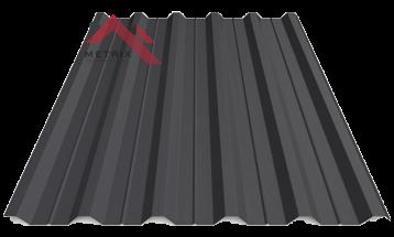 Профнастил пк-35 матовый черный 9005