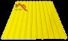 Профнастил пс-10 глянцевый желтый 1003
