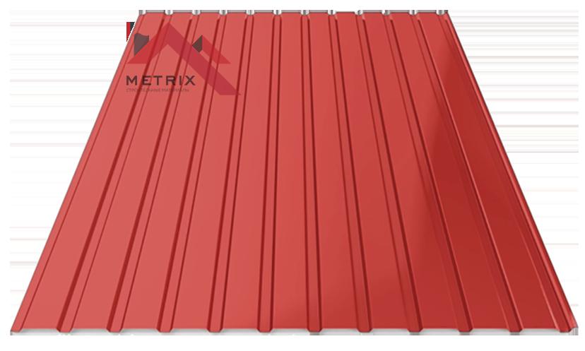 Профнастил пс-10 глянцевый 3011 красный