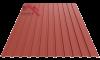 Профнастил пс-10 матовый ярко красный 3011
