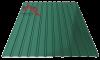 Профнастил пс-10 глянцевый зеленый 6005