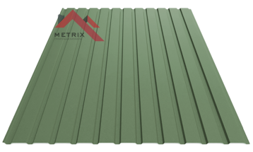 Профнастил пс-10 матовый темно зеленый 6020