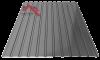 Профнастил пс-10 глянцевый серый 7024