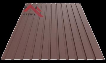 Профнастил пс-10 матовый коричневый 8017