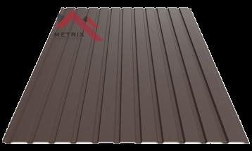 Профнастил пс-10 матовый темно коричневый 8019