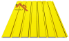 профнастил пс-15 глянцевый желтый 1003