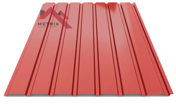 профнастил пс-15 глянцевый ярко красный 3011