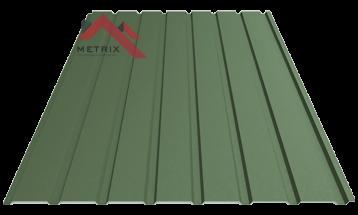 профнастил пс 15 матовый темно-зеленый 6020