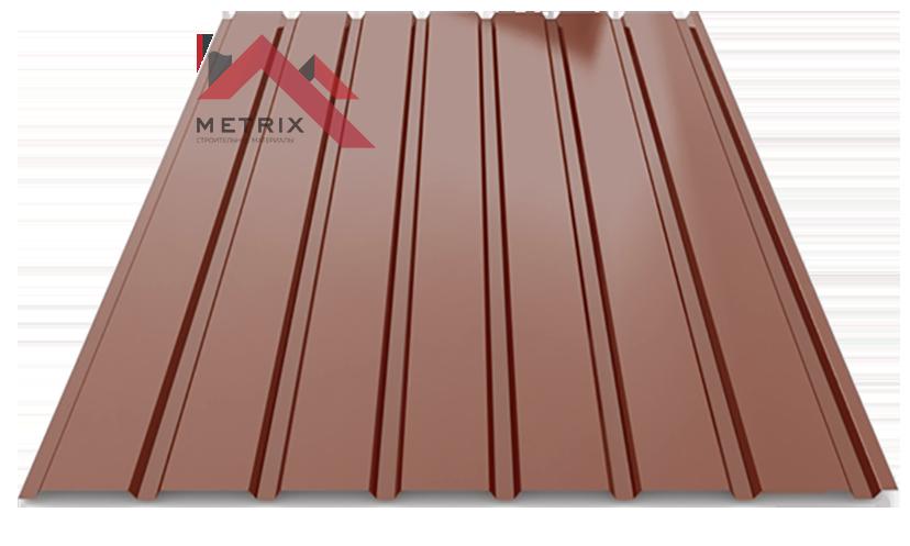 профнастил пс-15 глянцевый коричневый 8017