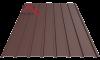 профнастил пс 15 матовый коричневый 8017