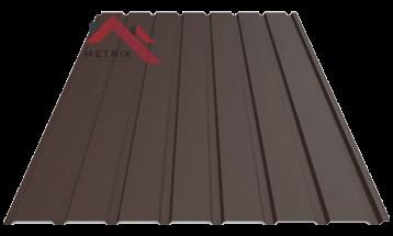 профнастил пс 15 матовый темно-коричневый 8019
