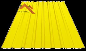 Профнастил пс-20 глянцевый желтый 1003