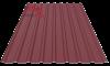 Профнастил пс-20 матовый гнилая вишня 3005