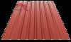 Профнастил пс-20 глянцевый темно красный 3009