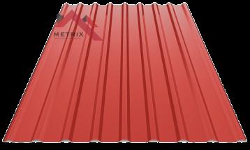 Профнастил пс-20 глянцевый 3011 ярко красный