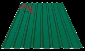 Профнастил пс-20 матовый ярко зеленый 6005