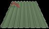 Профнастил пс-20 матовый зелено болотный 6020