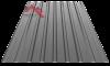 Профнастил пс-20 глянцевый темно серый 7024